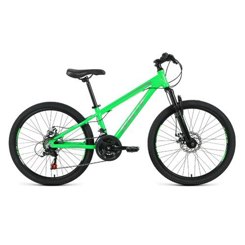 """Велосипед Skif 24 Disk (2021) горный (подростк.) рам.:11.5"""" кол.:24"""" ярко-зеленый/темно-серый 14.4кг"""