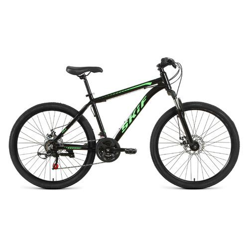 """Велосипед Skif 26 Disc (2021) горный рам.:17"""" кол.:26"""" черный/ярко-зеленый 15кг (RBKK1M36G002)"""