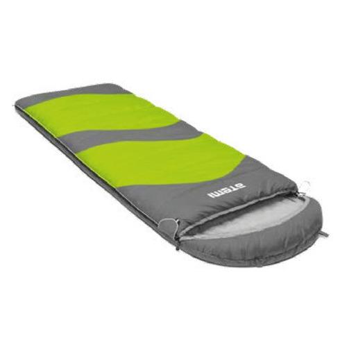Мешок спальный Atemi Quilt 200L лев. одеяло дл.:220см серый/зеленый (00-00007016)