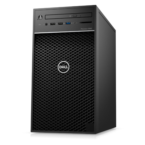 Рабочая станция DELL Precision 3640, Intel Core i9 10900, DDR4 16ГБ, 512ГБ(SSD), Intel UHD Graphics 630, DVD-RW, CR, Windows 10 Professional, черный [3640-7137]