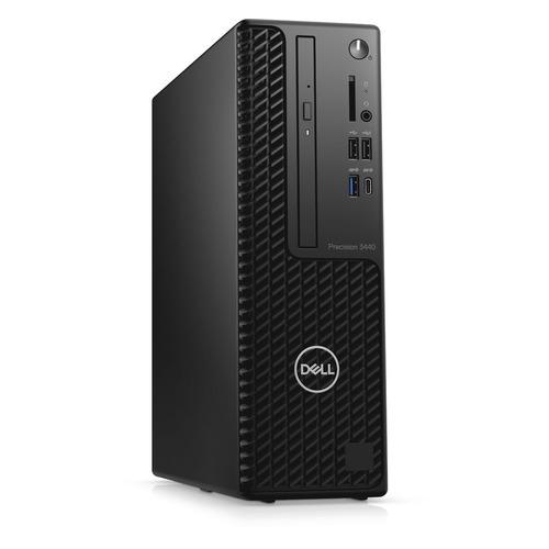 Рабочая станция DELL Precision 3440, Intel Core i7 10700, DDR4 8ГБ, 256ГБ(SSD), Intel UHD Graphics 630, DVD-RW, CR, Windows 10 Professional, черный [3440-7205]