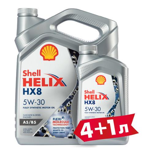 Моторное масло SHELL Helix HX8 5W-30 5л. синтетическое [550046777-41]