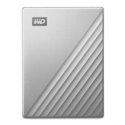 Фото - Внешний диск HDD WD My Passport Ultra WDBC3C0010BSL-WESN, 1ТБ, серебристый внешний диск hdd wd elements portable wdbuzg5000abk wesn 500гб черный