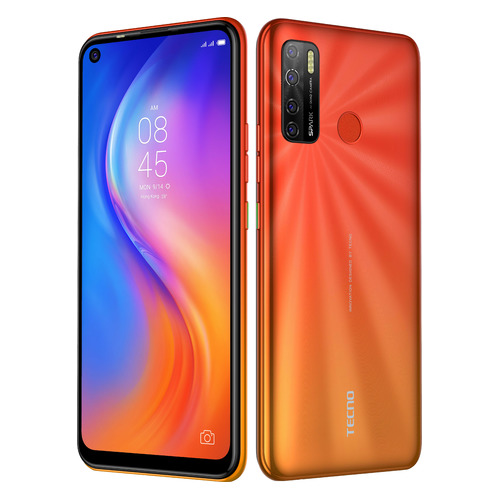 смартфон tecno ca7 ca7 chgl mediatek helio p23 2 0 3gb 32gb 6 1440x720 ips 3g 4g lte gps 13mp 20mp android 8 1 champagne gold Смартфон TECNO Spark 5 32Gb, оранжевый