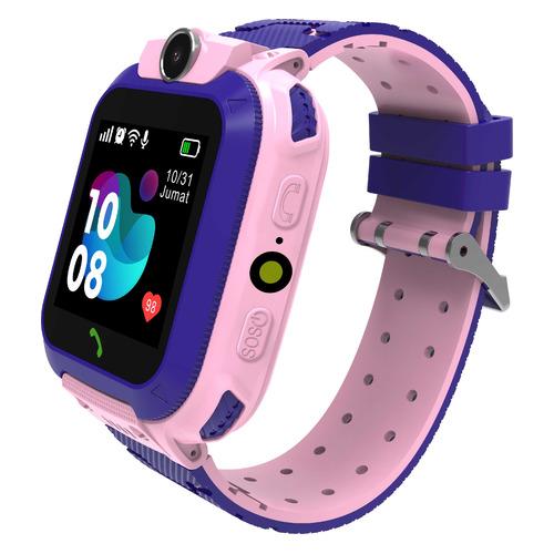 Смарт-часы SMARTERRA SmartLife Kids, 54мм, 1.44, розовый / фиолетовый [sm-slkp] smarterra smartlife kids light blue sm slkb