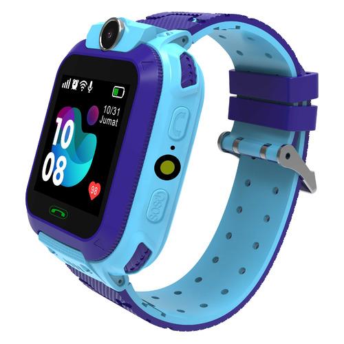Смарт-часы SMARTERRA SmartLife Kids, 54мм, 1.44, голубой / фиолетовый [sm-slkb] smarterra smartlife kids light blue sm slkb