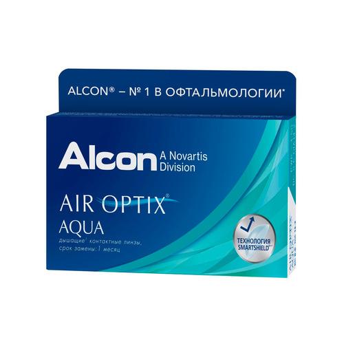 Контактные линзы Alcon Air Optix Aqua 8.6мм -4 уп.:3шт