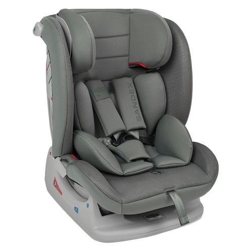 Автокресло детское HAPPY BABY Sandex, 0/1/2/3, от 0 до 3 лет, черный/серый автокресло группа 1 2 3 9 36 кг little car ally с перфорацией черный