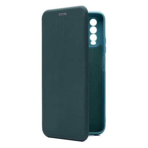 Фото - Чехол (флип-кейс) BORASCO Shell case, для Xiaomi Redmi 9T, зеленый [40059] чехол флип кейс borasco shell case для samsung galaxy m21 зеленый [39139]