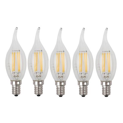 Фото - Упаковка ламп филаментная ЭРА E14, свеча на ветру, 7Вт, 4000К, белый нейтральный, BXS-7W-840-E14, 5 шт. [б0027945] упаковка ламп led эра e14 свеча 6вт 4000к белый нейтральный b35 6w 840 e14 3 шт [б0020619]