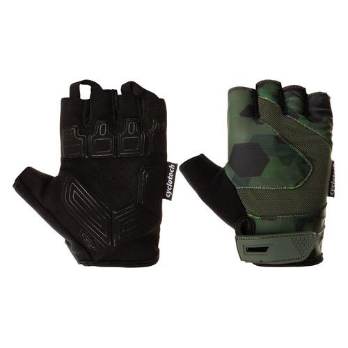 Перчатки велосипедные Cyclotech Razor муж. L черный/зеленый (S20ECYGL010-BU)