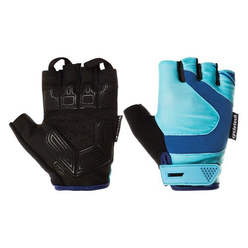 Перчатки велосипедные Cyclotech Hoya жен. S черный/голубой (S20ECYGL006-BQ)