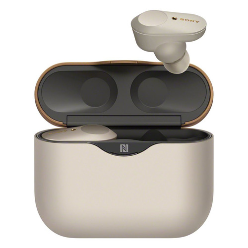 Гарнитура SONY WF-1000XM3, Bluetooth, вкладыши, серебристый [wf1000xm3s.e]