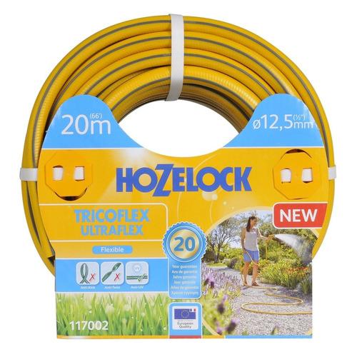 Шланг HoZelock Tricoflex Ultraflex 117002 1/2 20м поливочный армированный желтый (Б0046559) шланг hozelock 116242 tricoflex ultramax 1 2 25m