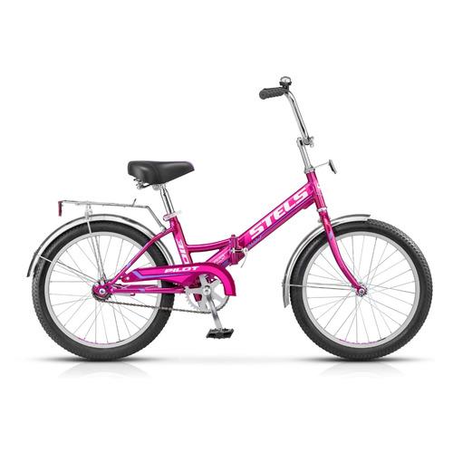 """Велосипед Stels Pilot-310 20 Z011 городской складной рам.:13"""" кол.:20"""" фиолетовый (LU071870)"""