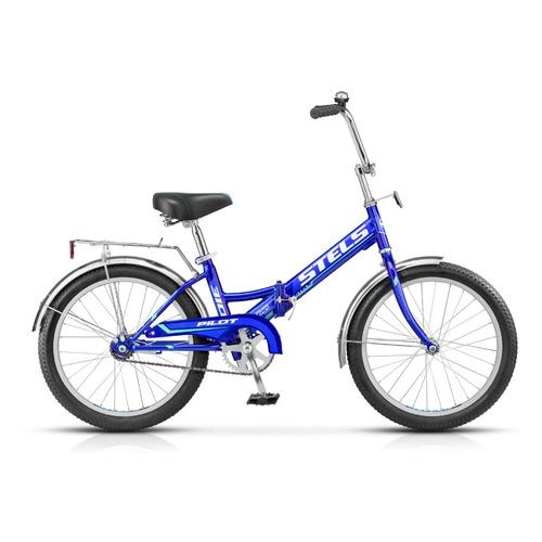 """Велосипед Stels Pilot-310 20 Z011 городской складной рам.:13"""" кол.:20"""" синий (LU071868)"""