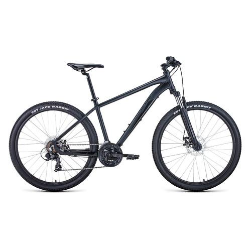 Фото - Велосипед Forward Apache 27,5 2.2 disc (2021) горный рам.:21 кол.:27.5 черный/черный 15.2кг (RBKW1 велосипед giant escape 3 disc 2021 металик черный m