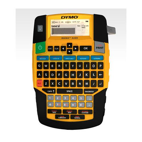 Термопринтер Dymo Label Manager Rhino 4200 (для печ.накл.) стационарный оранжевый/черный
