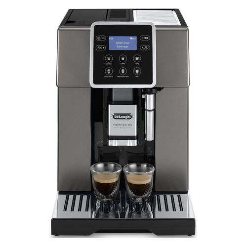 Кофемашина DELONGHI ESAM420.80.TB, черный/серебристый