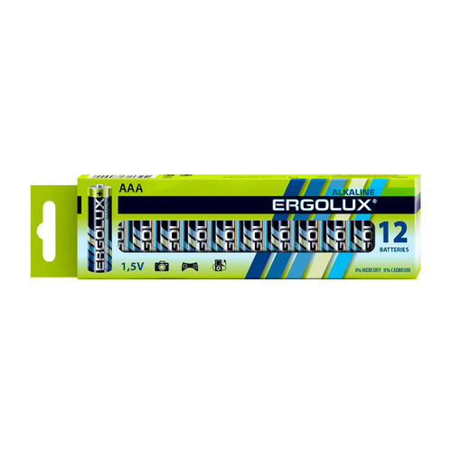 AAA Батарейка ERGOLUX Alkaline LR03 BP-12, 12 шт. 1150мAч недорого