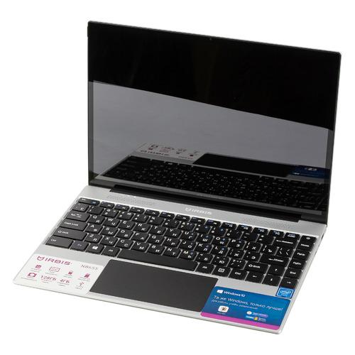 "Ноутбук IRBIS NB NB655, 13.5"", IPS, Intel Pentium J3710 1.6ГГц, 4ГБ, 128ГБ eMMC, Intel HD Graphics , Windows 10 Professional, NB655, серебристый"
