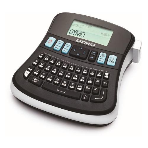 Термопринтер Dymo Label Manager 210D (для печ.накл.) стационарный черный (в компл.:5 лент 9мм S07206