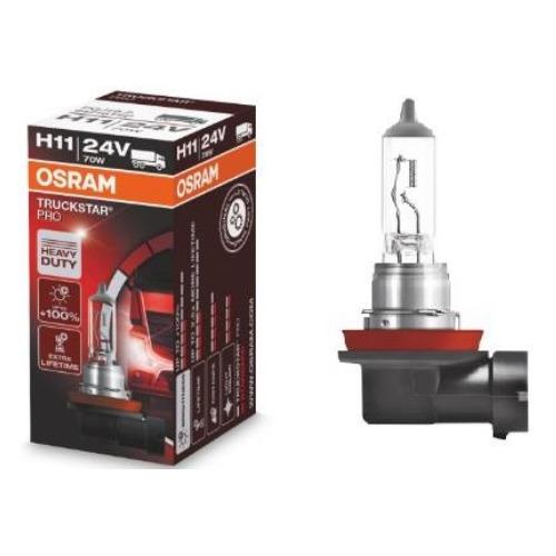 Лампа автомобильная галогенная OSRAM 64216TSP, H11, 24В, 70Вт, 1шт