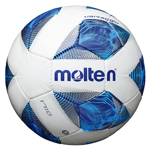 Мяч футб. Molten XAGWKES4ED р.5 для газона cиний/белый (F5A1710-.)