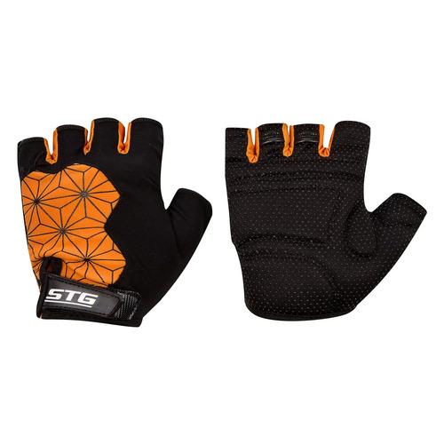 Перчатки велосипедные STG Replay L черный/оранжевый (Х95305-Л)