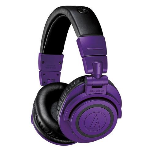 Гарнитура AUDIO-TECHNICA ATH-M50XBTPB, 3.5 мм/Bluetooth, мониторные, фиолетовый матовый [80001237]