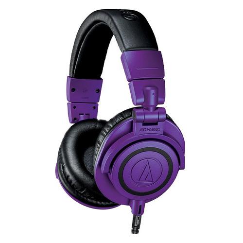 Наушники AUDIO-TECHNICA ATH-M50X, 3.5 мм, мониторные, фиолетовый матовый [80001236]