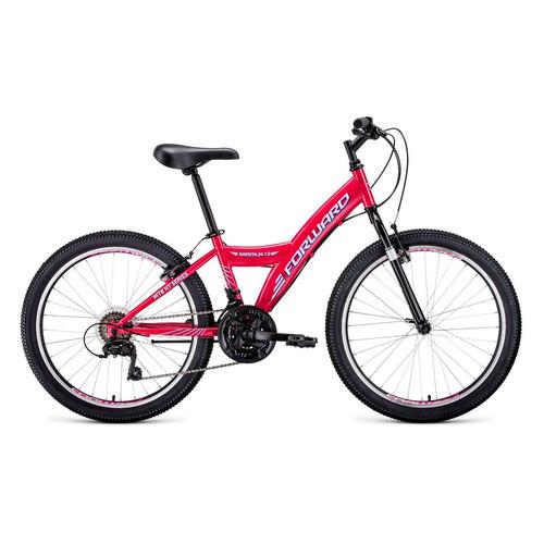 """Велосипед Forward Dakota 24 1.0 (2021) горный (подростк.) рам.:13"""" кол.:24"""" розовый/белый 14.4кг (RB"""