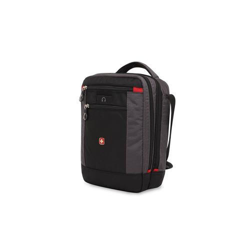 сумка планшет wenger текстиль светло серый Сумка-планшет Wenger SWISSGEAR SA1092238 22x9x29см 1л. 0.36кг. полиэстер черный/серый