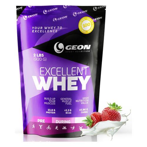 Протеин GEON Excellent Whey, порошок, 0.92кг, клубника со сливками