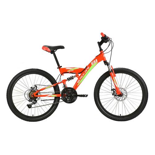 Велосипед Black One Ice FS 24 D горный красный/зеленый