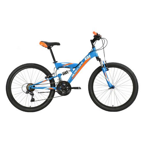 Велосипед Black One Ice FS 24 горный синий/оранжевый