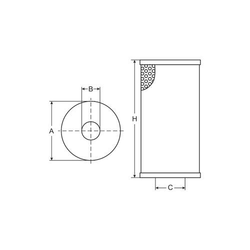 Фильтр масляный SCT SH425/1P