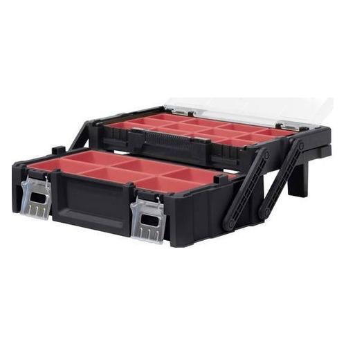 Ящик для инструментов KETER 18 Canti organizer STD EuroPRO, черный [237006]
