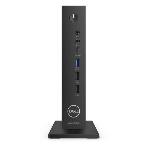 Тонкий клиент DELL WYSE 5070 3Y PNBD WiFi, Intel Celeron J4105, DDR4 4ГБ, 32ГБ(SSD), Intel UHD Graphics 600, ThinOs, черный [5070-3395]