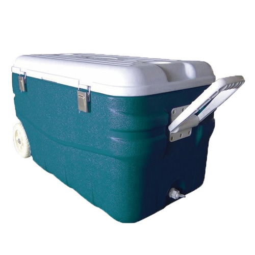 Автохолодильник АРКТИКА 2000-100, 100л, голубой и белый термоконтейнер арктика 2000 100 100l aquamarine