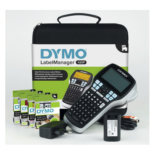 Термопринтер Dymo Label Manager 420P (для печ.накл.) переносной черный