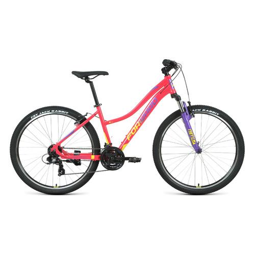 "Велосипед Forward Jade 27,5 1.2 (2021) горный рам.:16.5"" кол.:27.5"" розовый/желтый 14.5кг (RBKW1M37G"