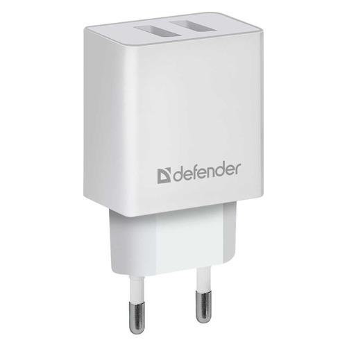 Сетевое зарядное устройство Defender UPA-22, 2xUSB, 2.1A, белый