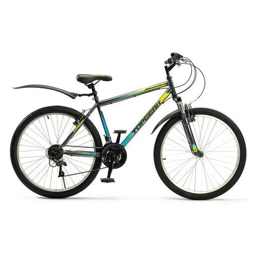 Велосипед Topgear Forester (2021) горный рам.:18 кол.:26 серый/голубой 18кг (ВН26432К)