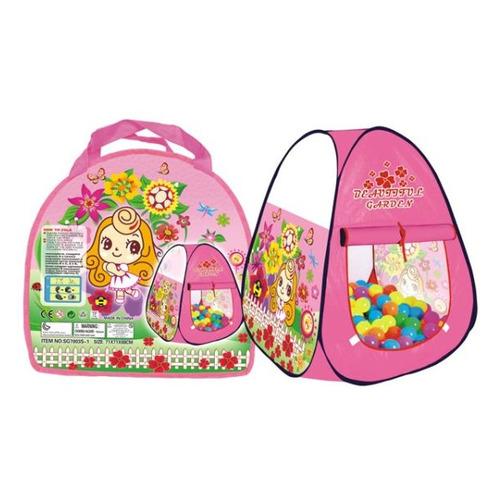 Палатка детск. Наша Игрушка Цветочный рай розовый (611402)