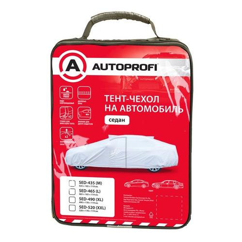 Тент автомобильный Autoprofi SED-490 (XL) 490x178x119см серый