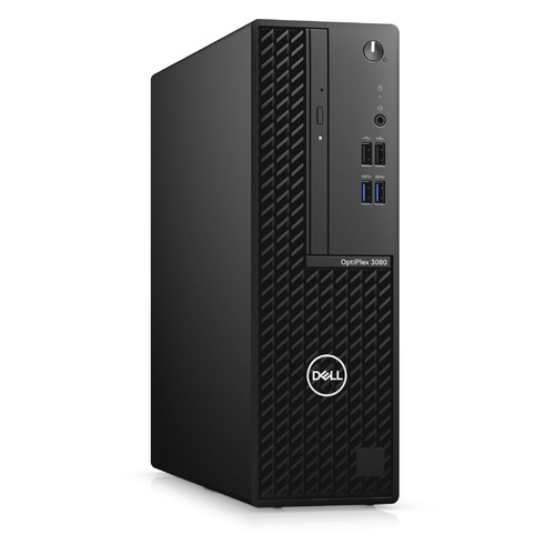 Компьютер Dell Optiplex 3080, Intel Core i3 10105, DDR4 8ГБ, 256ГБ(SSD), Intel UHD Graphics 630, DVD-RW, Windows 10 Professional, черный [3080-9797]