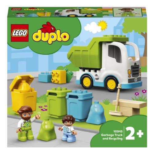 Конструктор Lego Duplo Мусоровоз и контейнеры для раздельного сбора мусора, 10945