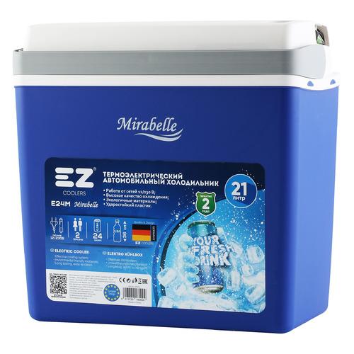 Автохолодильник EZ COOLERS E24M 12-230V, 21л, синий и белый