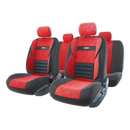 Чехол Autoprofi Comfort Combo велюр/полиэстер черный/красный (CMB-1105 BK/RD)